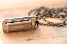Silver Harmonica Necklace