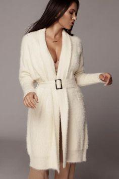 Outerwear – JLUXLABEL Winter Coats Women, Sweater Cardigan, Ivory, Long Sleeve, Swimwear, Model, Sweaters, How To Wear, Outfits