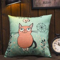 SHARE & Get it FREE | Creative Fat Cat Pattern Cotton and Linen Square Shape Pillowcase(Without Pillow Inner)For Fashion Lovers only:80,000+ Items·FREE SHIPPING Join Dresslily: Get YOUR $50 NOW!