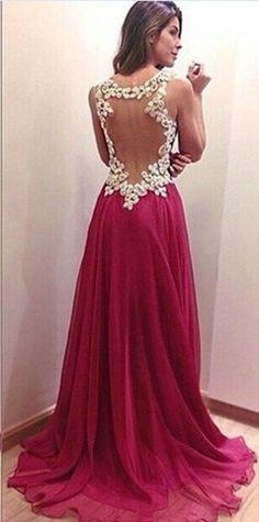 Lace Back Sweetheart Neck Long Gown