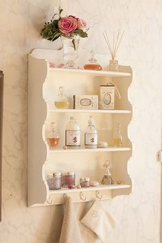 Ivory Bathroom Shelf Unit