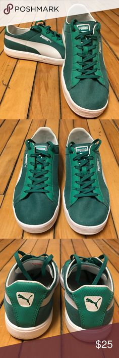 Puma Sport Lifestyle Sneakers Shamrock green Sport Lifestyle Puma's! Only worn a couple of times - check out the soles below (not cleaned up for the pics). Very comfortable and eye catching. No stains or tears. Nearly new. Priced to sell. Puma Shoes Sneakers