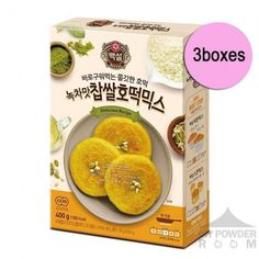 Beksul Green Tea Chapssal Hotteok Mix 400g X 3boxes Korean Sweet Pancake Bread Latest Products Korea Republic Of