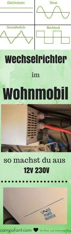 Wer aus 12v 230v machen möchte, braucht einen Wechselrichter im Wohnmobil. Doch was für einen Wechselrichter brauche ich? Und worauf sollte ich beim Kauf eines Spannungswandlers für Wohnmobil achten? Wir zeigen's dir.