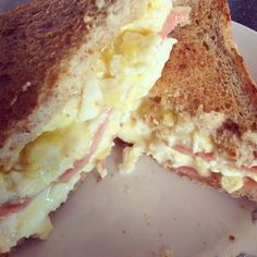 double ham-egg and cheese sandwich
