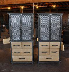 Ellis Armoires by Vintage Industrial Furniture