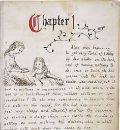 Alice in Wonderland Original Manuscript By Kaushik Friday, March 19, 2010 Art n Design, Vintage -- First page of Alice in Wonderland by Lewis Carroll (Charles Dodgson) written by hand for Alice Liddell