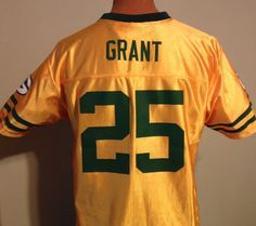 GREEN BAY PACKERS RYAN GRANT NFL PROPERTIES GOLD ALTERNATE JERSEY YOUTH XLARGE