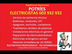 Electricistas POTRIES 603 932 932 Baratos
