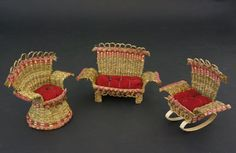 Sweetgrass and ash chair baskets by Frances (Gal) Frey at Home & Away Gallery