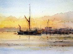 "David Howell, ""Daybreak at Pin Mill,"" ca. 2013. Brilliant!!"