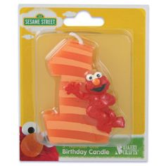 Sesame Street Elmo 1st Birthday Candle By BigCatCrafts 370 Party Ideas
