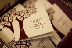 Baltimore Wedding Ceremony Program 550x366 Baltimore Wedding: Jeanne + Seans Glamorous Purple Ceremony