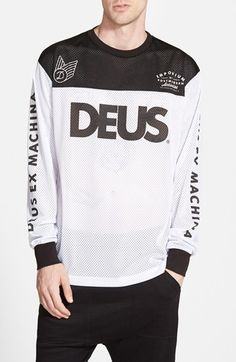 Deus+Ex+Machina+'Moto+X+6'+Long+Sleeve+Mesh+Jersey+available+at+#Nordstrom
