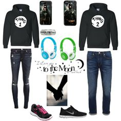 """Matching couple outfit"" by ashly-noel on Polyvore cheap nike free 5.0 only $48.5, save up to 61% off"