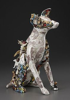 MARY  ENGEL - Ceramic, decals & found objects