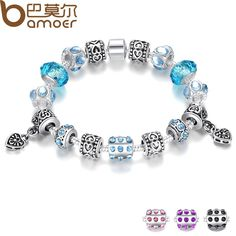 BAMOER Hot Sell European Style Silver Crystal Charm Bracelet for Women With Blue Murano Glass Beads Jewelry PA1394 $6.86   => Save up to 60% and Free Shipping => Order Now! #fashion #woman #shop #diy  http://www.rodjewelry.com/product/bamoer-hot-sell-european-style-silver-crystal-charm-bracelet-for-women-with-blue-murano-glass-beads-jewelry-pa1394/