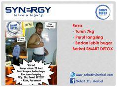 Testimoni Smart Detox Reza Turun 7kg berkat Smart Detox