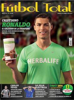 Revista Futbol Total en su Nueva edición la 157 en la portada sale #Cristiano #Ronaldo con el Batido de #Herbalife como goleador de la Champions League  www.boutiqueherbal.com