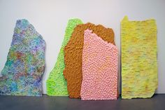resin sculptures by Mika Rottenberg in NYC