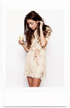 lace dress.....it would be perfect if the length was just an inch above the knees. :)