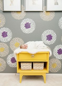 Oh Baby Nursery Tour Clover S Room Purple Mustard And Grey
