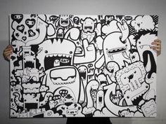 Diseño de Personajes | Character Design Doodle Wall, Doodle Art Letters, Doodle Art Drawing, Doodle Art Journals, Art Drawings, Graffiti Art, Graffiti Cartoons, Doodle Characters, Graffiti Characters