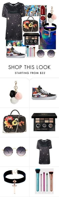 """""""Paint splatter goals🙌🏾😍🦄🌈"""" by annaz1003 ❤ liked on Polyvore featuring GUESS, Vans, Bobbi Brown Cosmetics, Spitfire, Alexander Wang and VSA"""