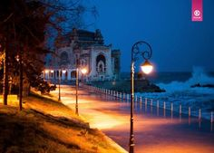 Tomis Constanta faleza Romania night dobrogea dobruja Black Sea Ancient Names, Visit Romania, Old Port, Travel Set, Black Sea, Best Funny Pictures, Beautiful World, The Locals, Places To Visit