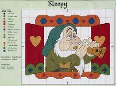 Solo Patrones Punto Cruz Snow White - Sleepy