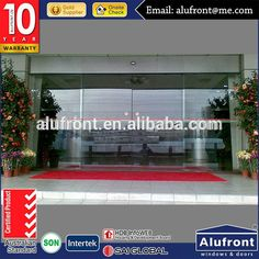 Factory Wholesale Automatic Glass Sliding Door for Commercial