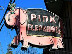 The Pink Elephant by Vintage Roadtrip on Flickr.