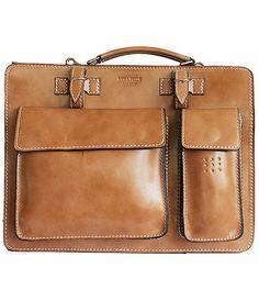 Ladies Beige Leather Briefcase/Work Bag