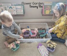 Happy first day of Spring! It is still really cold where we live, so we brought the garden inside! Easter Colors, Organic Gardening Tips, Sensory Bins, Fun Crafts For Kids, Kid Friendly Meals, Fun Learning, Playroom, Preschool, Parenting