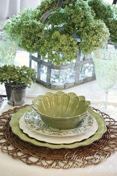 Очень красиво выглядит стол, если все предметы, которые на нём находятся, отражают одну цветовую гамму. Предлагаю посмотреть интересную подборку идей для красивой сервировки стола, в приятных бело-зеленых тонах. Как известно, зеленый - это цвет возрождения природы. Белый цвет - это чистота и элегантность. Сочетание этих цветов в оформлении стола, создает атмосферу торжества и праздника, заряжает энергией, дарит ощущение спокойствия и гармонии.