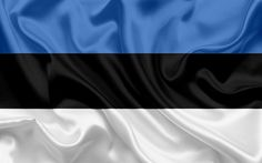 Download wallpapers Estonian flag, Estonia, Europe, the flag of Estonia