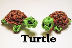 Rainbow Loom 3D Turtle Charms by Elegant Fashion 360 #turtles #rainbowloom #diy