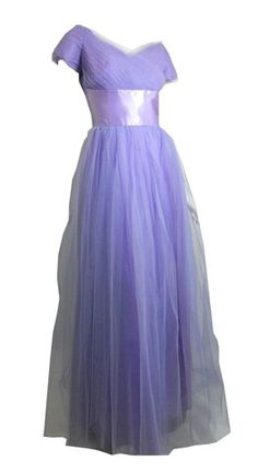 ~Lilac Tulle and Satin Ball Gown circa 1950s~ Dorothea's Closet Vintage