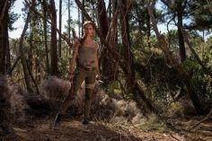 Alicia Vikander as Lara Croft in Tomb Raider, opening March 16, 2018.