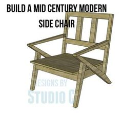 "Mid Century Modern Design Chair Plans Mid Century Modern design is still a popular style with its simplicity and sleek, clean, almost ""futuristic"" look! I was contacted by Michelle asking for Mid C..."