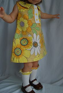 Mod toddler dress.  I knew there was a reason I was saving those Peter Max sheets from mom and dad!