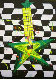 Rock Star guitars- I bet the kids would love this... and a great way to work with rulers.