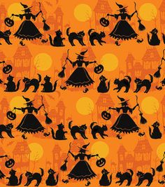 It's a moonlight parade! @Susan Winget fabric, perfect for #Halloween :)