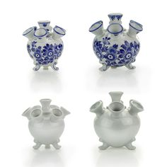 Delft Blue or white Tulip Vases, from € 23,95 - #souvenir #delftblue #museumshop