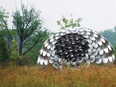 The Shadow Pavilion by PLY Architecture is made by aluminum cones