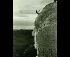 Construction of Mount Rushmore National Monument (MORU). Photo #33 by Charles D'Emery / NPS