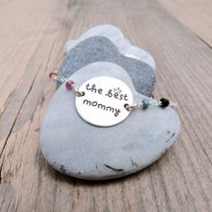 Pulsera THE BEST MOMMY con turmalinas o espinelas  #formums #thebestmommy #diadelamadre