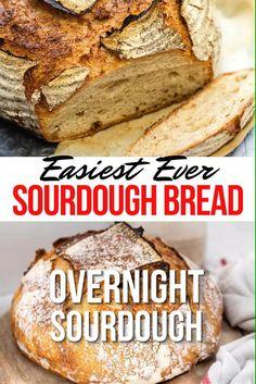 Easy Sourdough Bread Recipe, Sourdough Bread Starter, Sour Bread Recipe, Overnight Sourdough Bread Recipe, Yeast Starter, Artisan Bread Recipes, Easy Bread Recipes, Starter Recipes, Beginners Bread Recipe