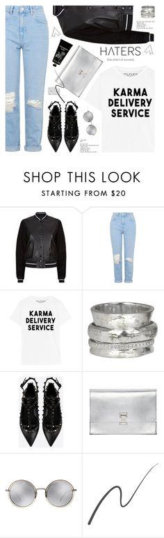 """karma delivery service"" by jesuisunlapin ❤ liked on Polyvore featuring rag & bone, Topshop, MeditationRings, Valentino, Proenza Schouler, TokyoMilk, Linda Farrow, Stila and Nadri"