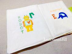 Childrens Fabric Book Soft Fabric Book Custom 8 x by jaxtonandjill, $40.00